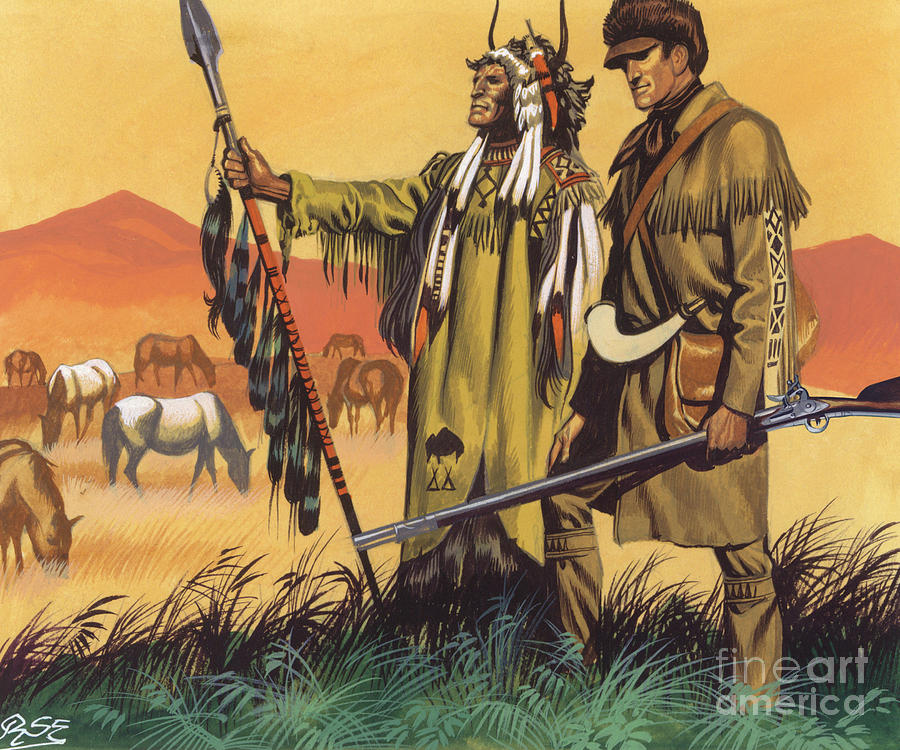 Lewis And Clark Expedition Painting - Lewis And Clark Expedition Scene by Ron Embleton