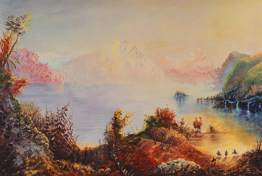 Western Painting - Lewis And Clark by Richard Barham