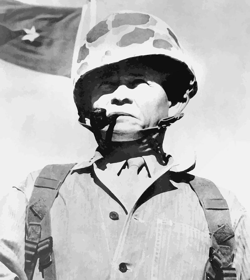 Chesty Puller Painting - Lewis Chesty Puller by War Is Hell Store