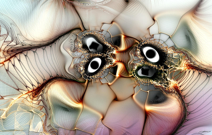 Abstract Digital Art - Lexicon Of The Visionary by Casey Kotas