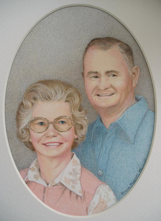 Portrait Painting - Lexies Mom And Dad by Bonnie Haversat