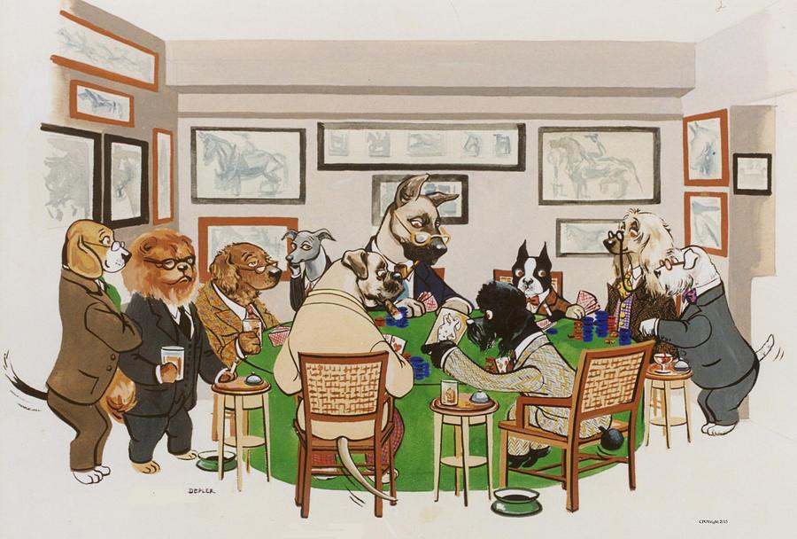 Poker Painting - Lexington Club by Constance Depler Coleman
