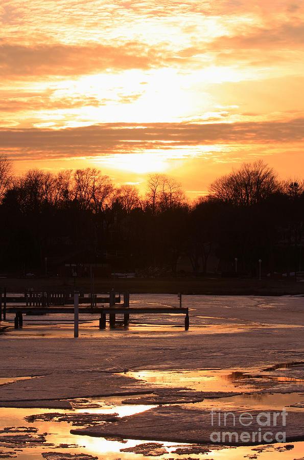 Sunset Photograph - Lexington Harbor Sunset by Kathy DesJardins