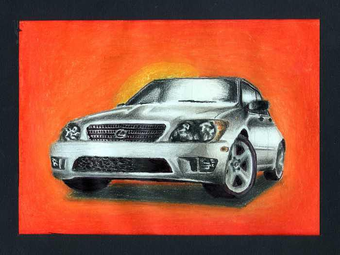 Car Painting - Lexus by Kyle Adamache