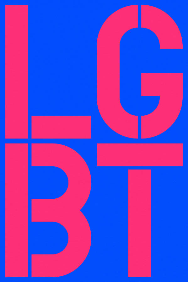 Four Painting - Lgbt Blue And Pink by Three Dots