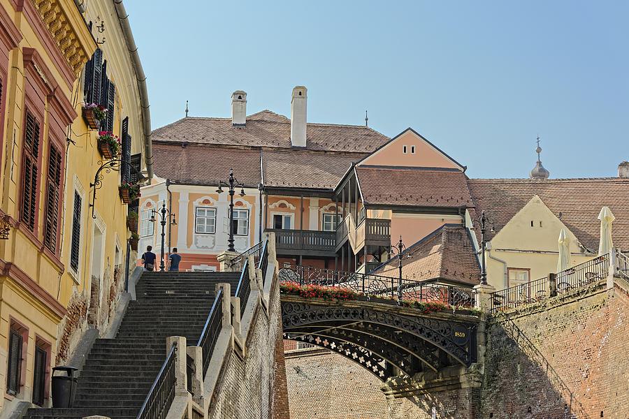 Ancient Photograph - Liars Bridge Sibiu Romania by Adrian Bud