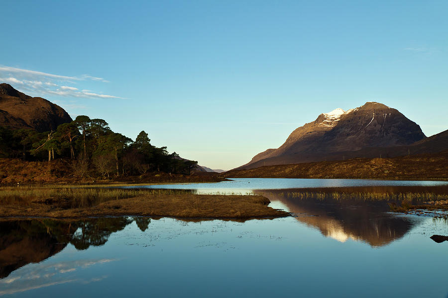 Liathach Photograph - Liathach Sunrise Reflections by Bill Buchan