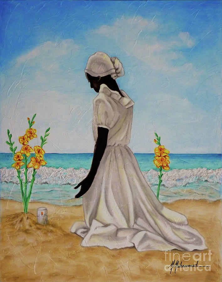 Beach Painting - Libations II by Marcella Muhammad