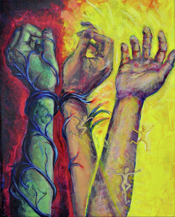 Hands Painting - Liberation by Madeline Lee