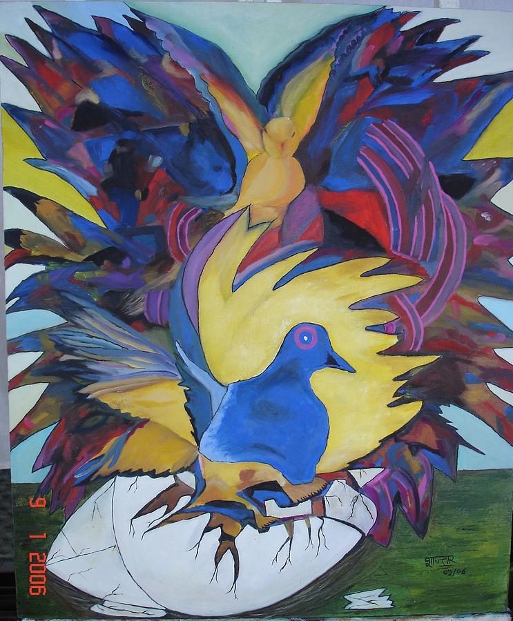 Bird Painting - Liberdade  -  Liberty by Shanta Rathie
