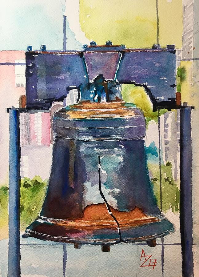 Liberty Bell Painting - Liberty by Anthony Zecca
