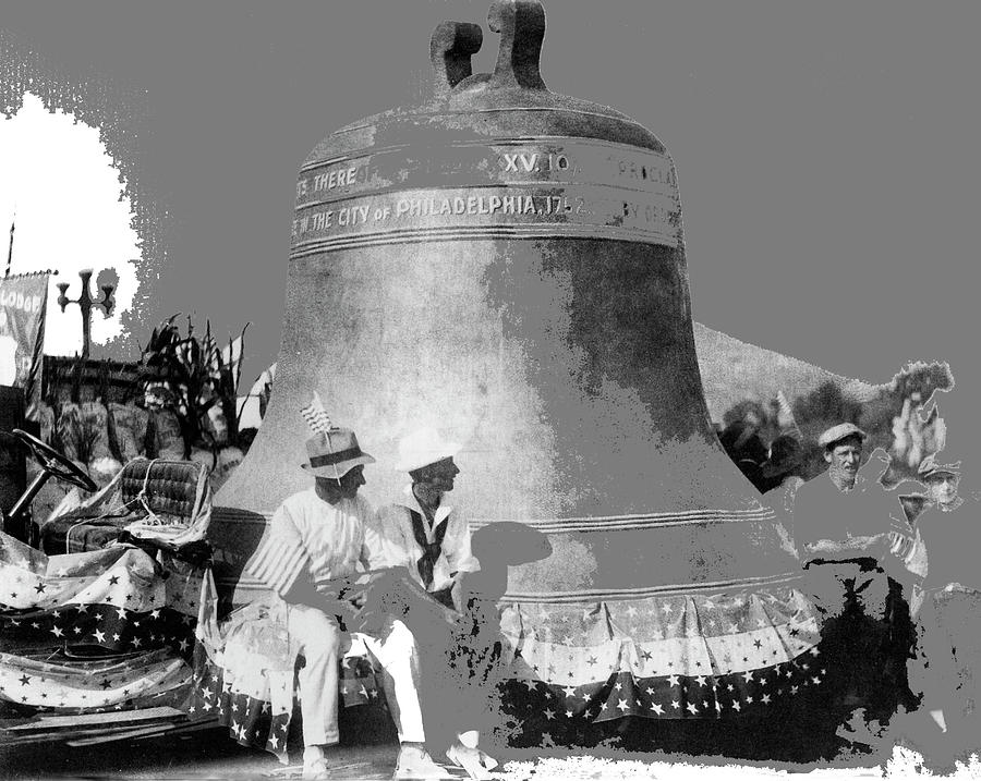 Liberty Bell Float In A Ww1 Parade Tucson Arizona Circa 1916 Color Added 2015 Photograph