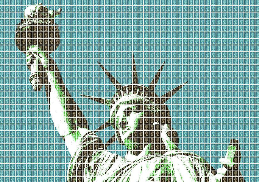 Liberty - Dark Blue Digital Art
