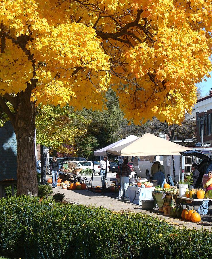 Fall Photograph - Liberty Farmers Market by Steve Karol