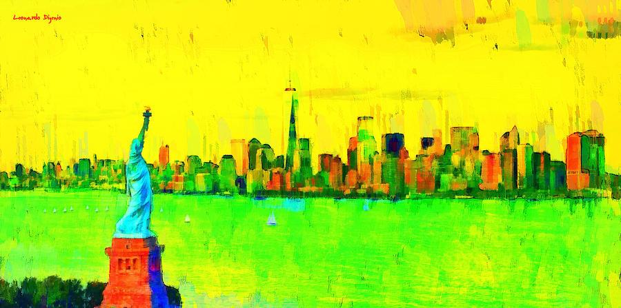 Liberty Painting - Liberty In New York - Pa by Leonardo Digenio