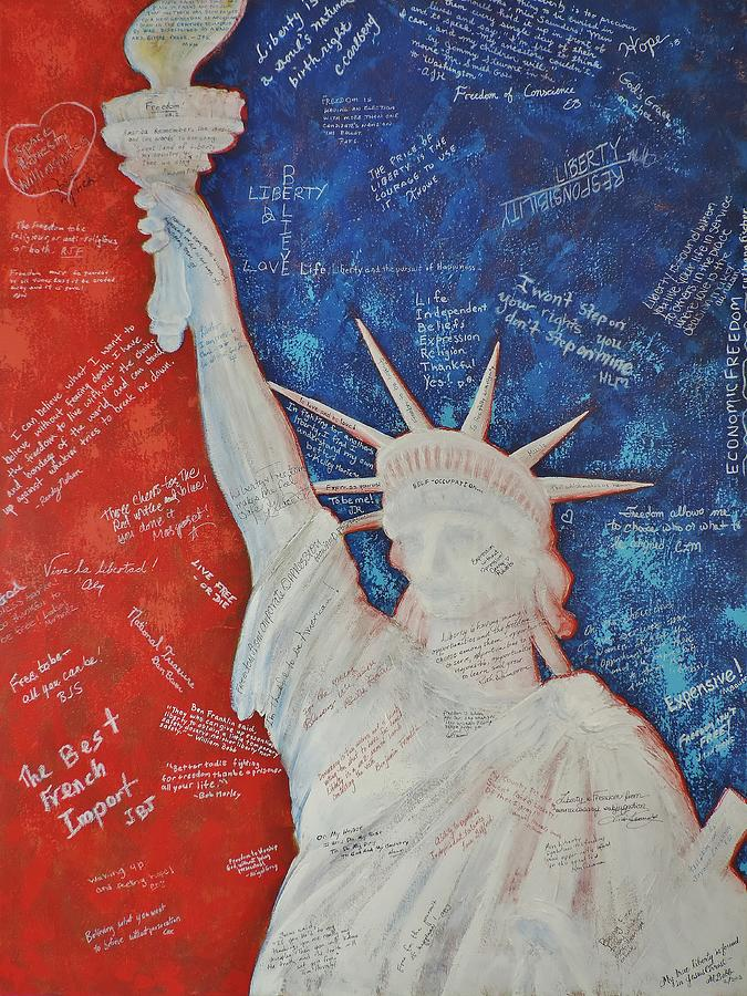 Statue Of Liberty Painting - Liberty Is... by Margaret Bobb