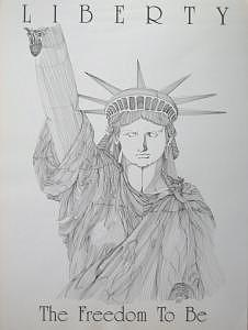 Print Drawing - Liberty by Joanie Arvin