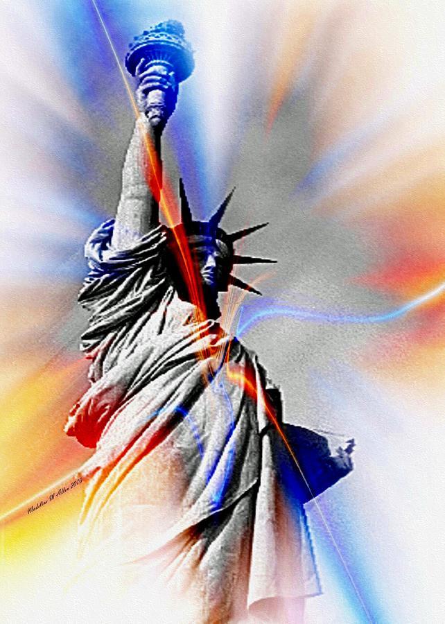 Smudgeart Digital Art - Liberty by Madeline  Allen - SmudgeArt