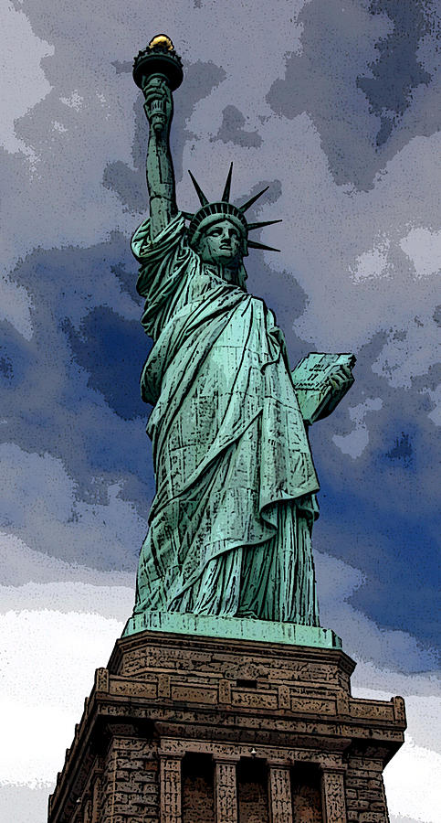 Statue Of Liberty Digital Art - Liberty Poster by William  Todd
