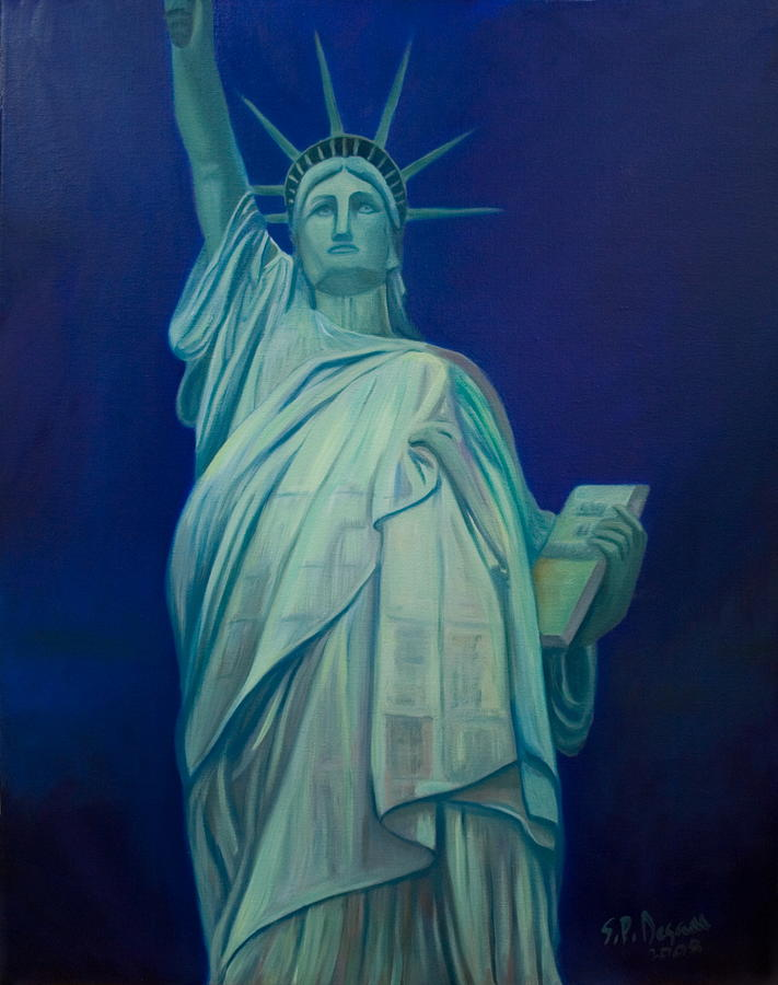 Statue Painting - Liberty by Stephen Degan
