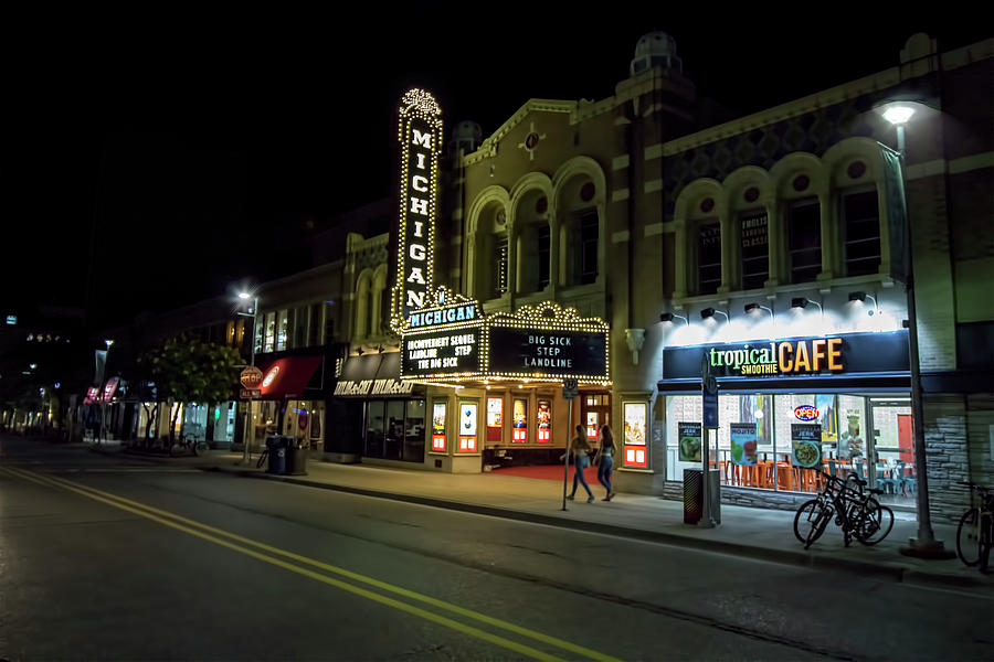 Ann Arbor Photograph - Liberty Street Nights by Pat Cook