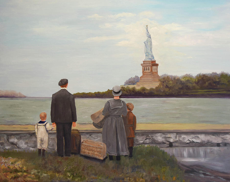 Liberty view from Ellis Island by Sandra Nardone