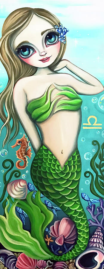 Libra Zodiac Mermaid by Jaz Higgins