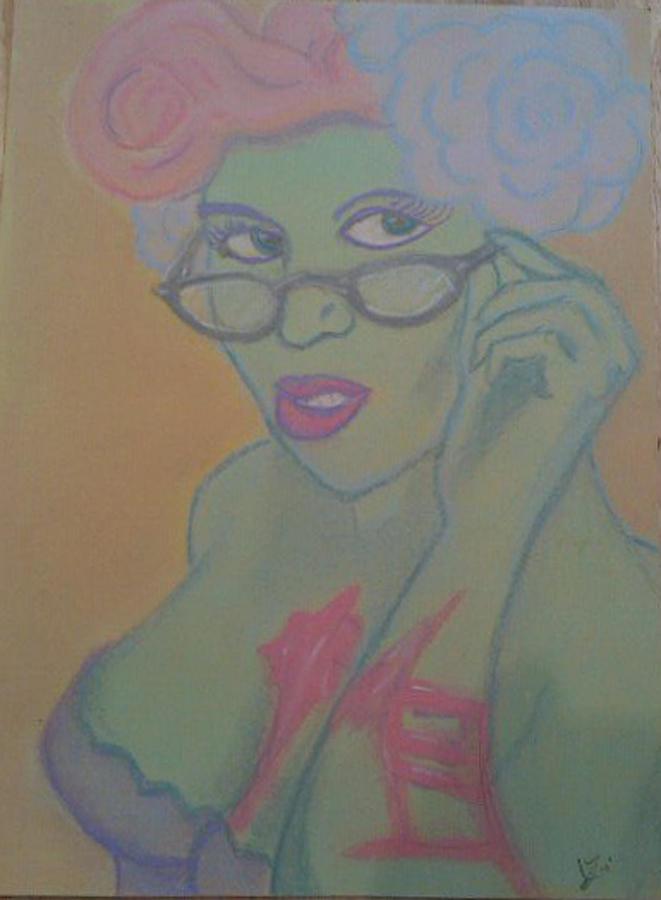 Beautiful Pastel - Librarian Zombie by Jason Longbrake