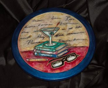Library Martini Mixed Media by Mickie Boothroyd