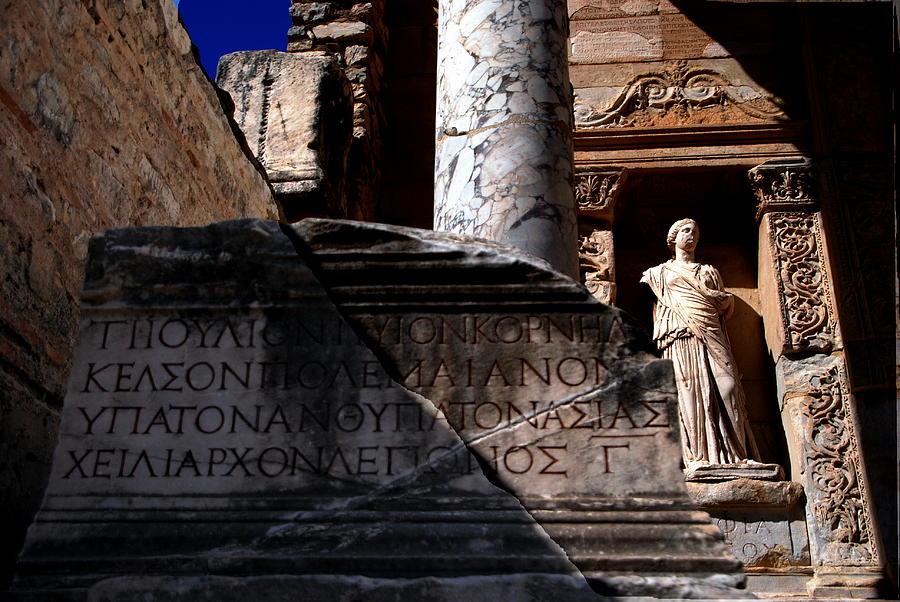 Library of Celsus - Color by Jacqueline M Lewis
