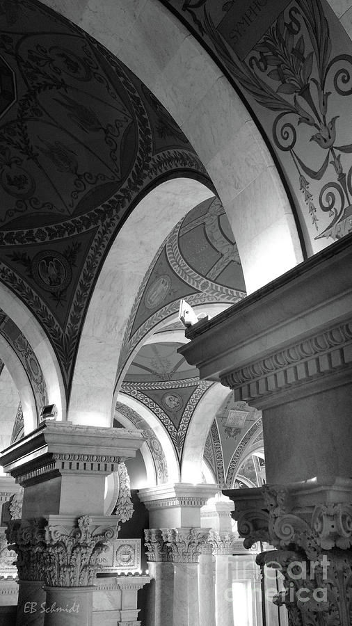 Schmidt Photograph - Library Of Congress 3 Black And White by E B Schmidt