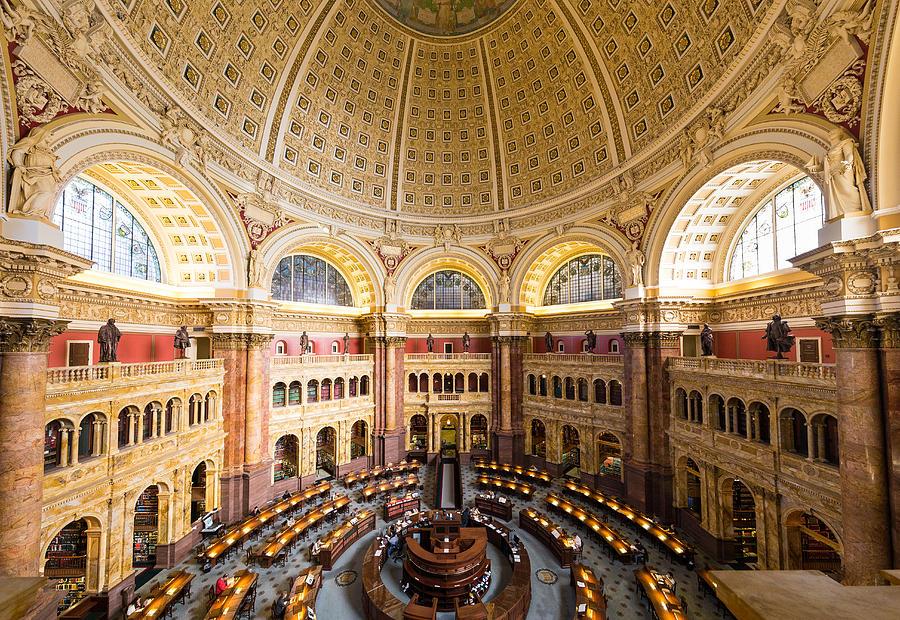 Washington Photograph - Library Of Congress I by Robert Davis