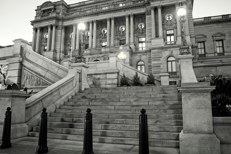 Library Of Congress In Black And White Photograph by Greg Mimbs