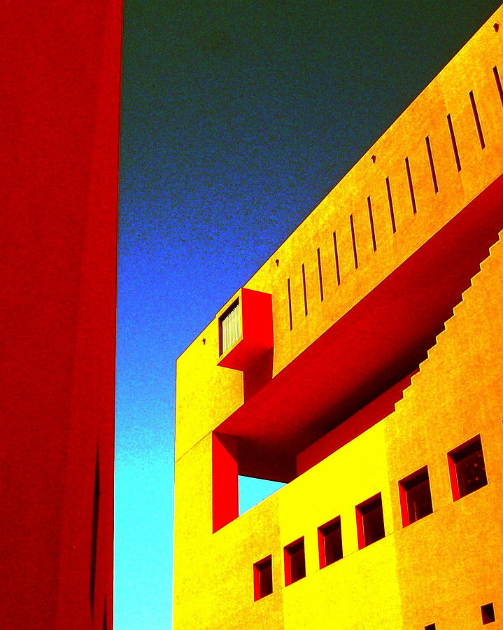 San Antonio Photograph - Library On A Clear Day by Edgar Farrera