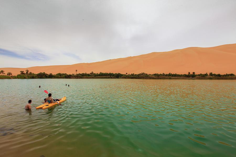 Oasis Photograph - Libyan Oasis by Ibrahim Azaga