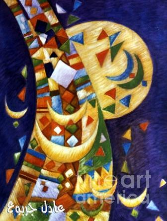 Abstract Painting - Libyan Traditional Touches 4 by Adel Jarbou