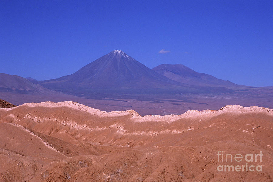 Chile Photograph - Licancabur Volcano Seen From The Atacama Desert Chile by James Brunker