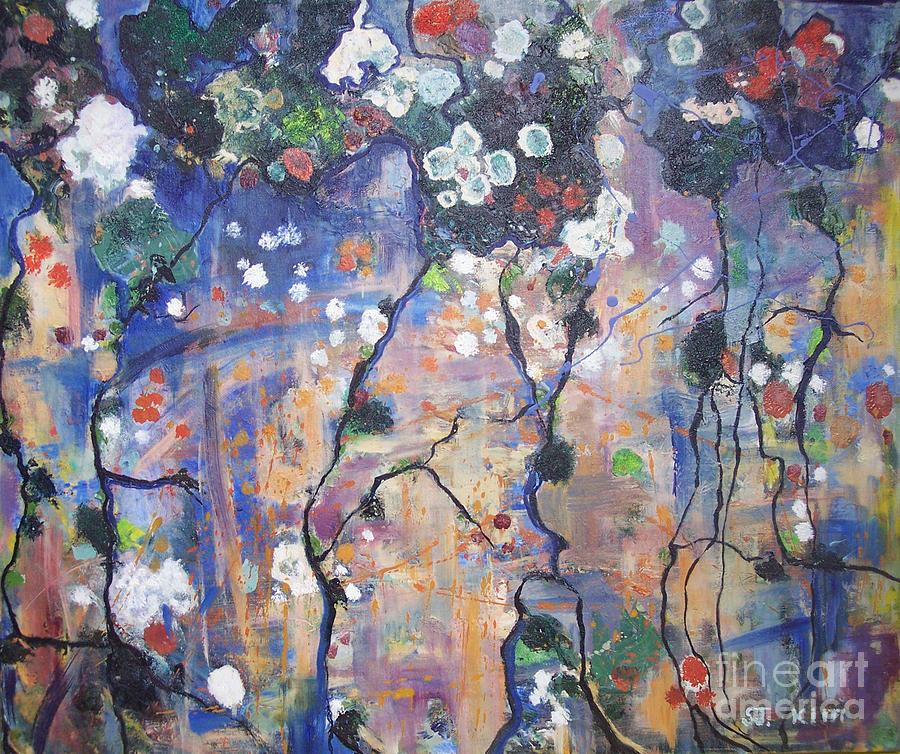 Abstract Art Paintings Painting - Lichen by Seon-Jeong Kim