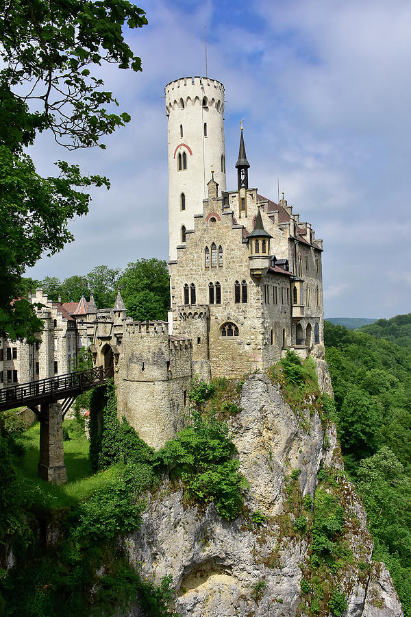 Germany Photograph - Lichtenstein Castle by Don and Bonnie Fink