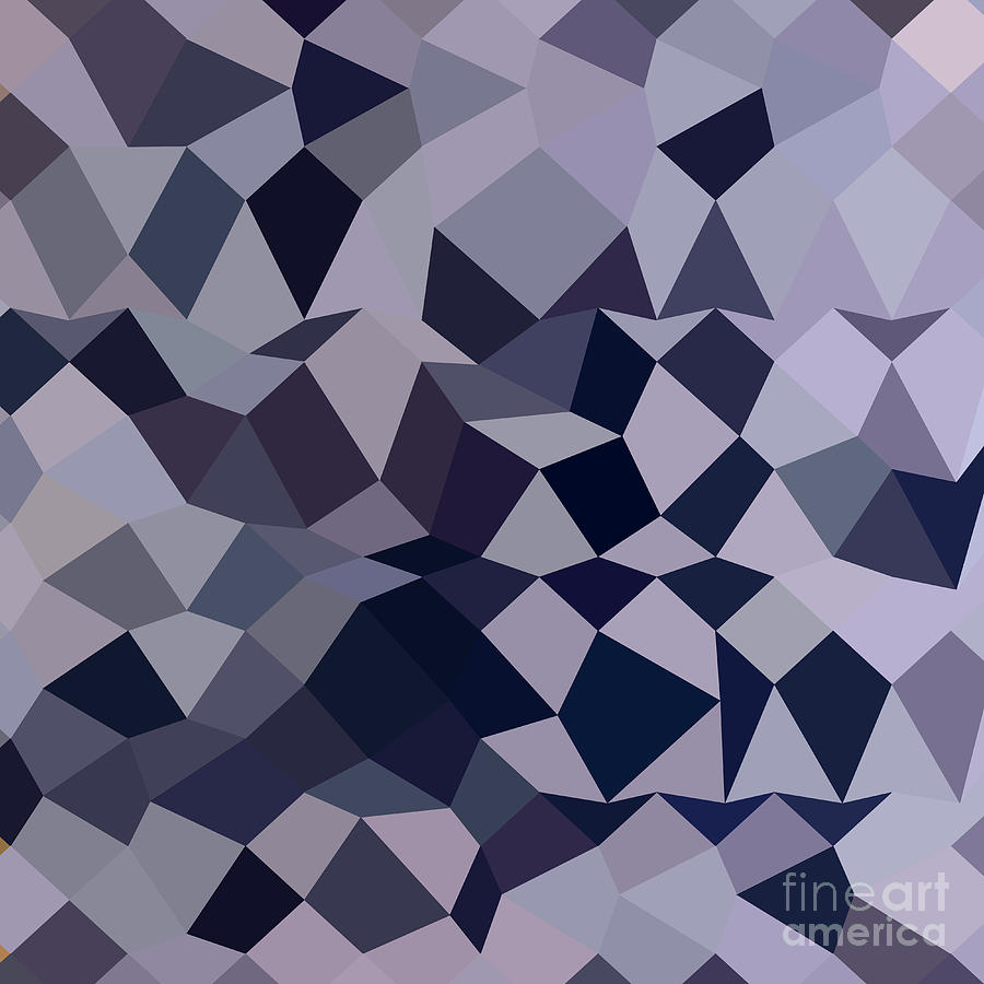 Abstract Digital Art - Licorice Black Abstract Low Polygon Background by Aloysius Patrimonio