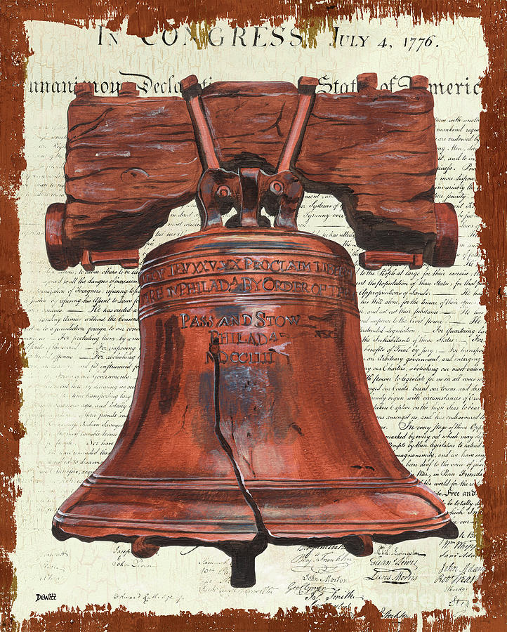 Bell Painting - Life and Liberty by Debbie DeWitt