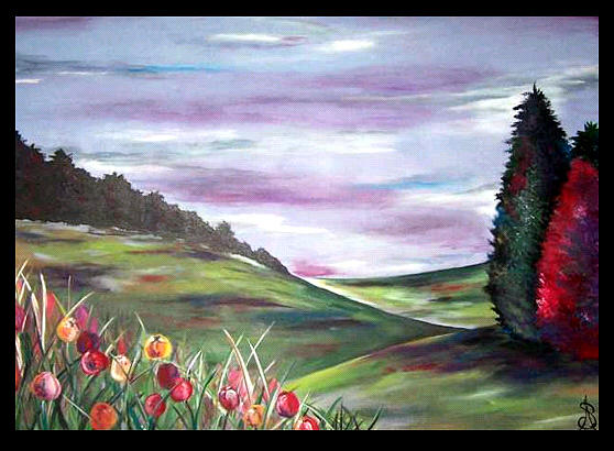 Landscape Painting - Life Commission Sold by Amanda  Sanford