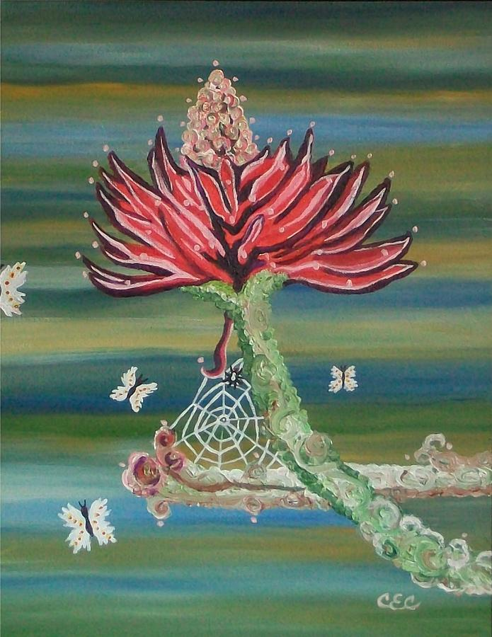 Flower Painting - Life Cycles by Carolyn Cable