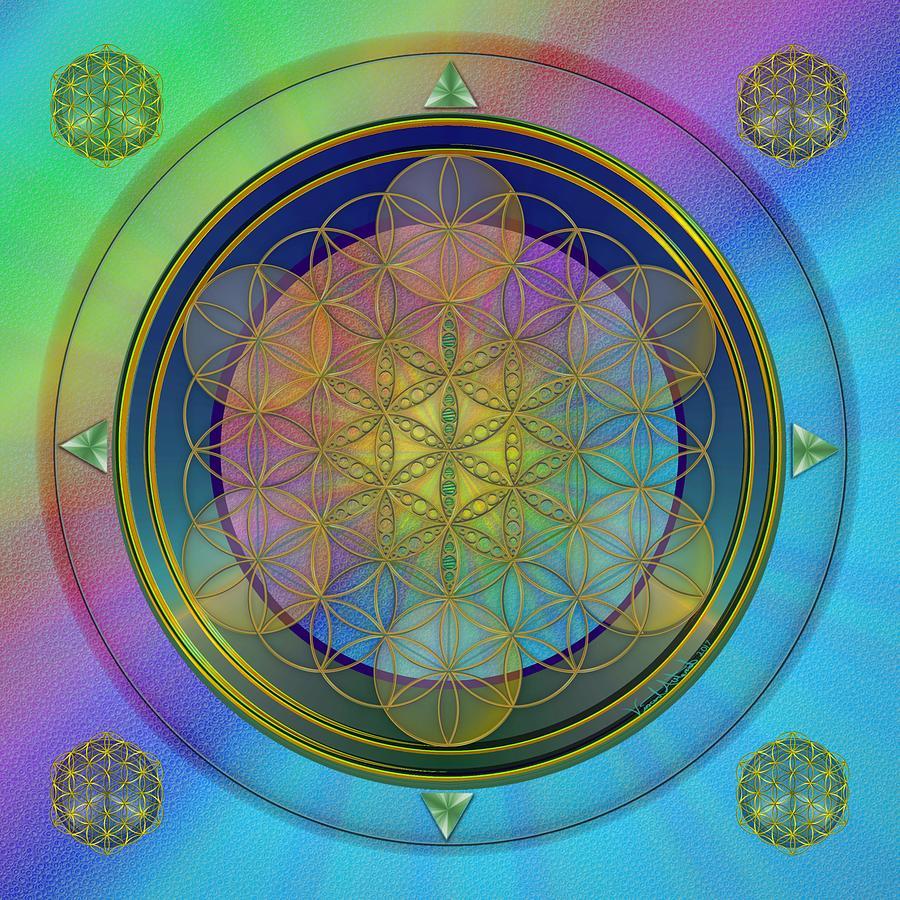 Transcend Digital Art - Life Flower by Vincent Autenrieb