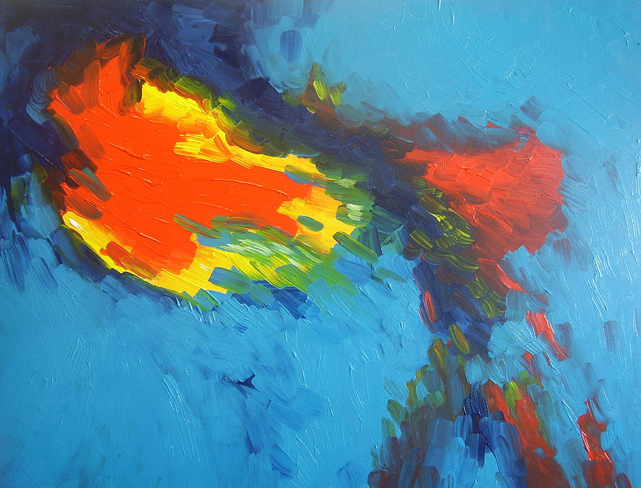 Abstract Painting - Life Force by Eamon Doyle