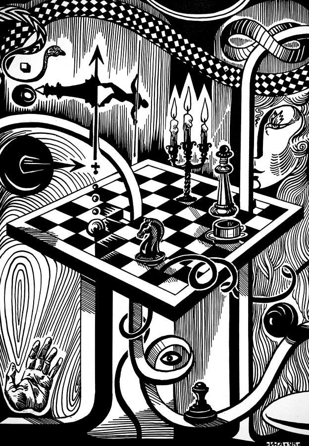 Realism Drawing - Life Game by Inga Vereshchagina