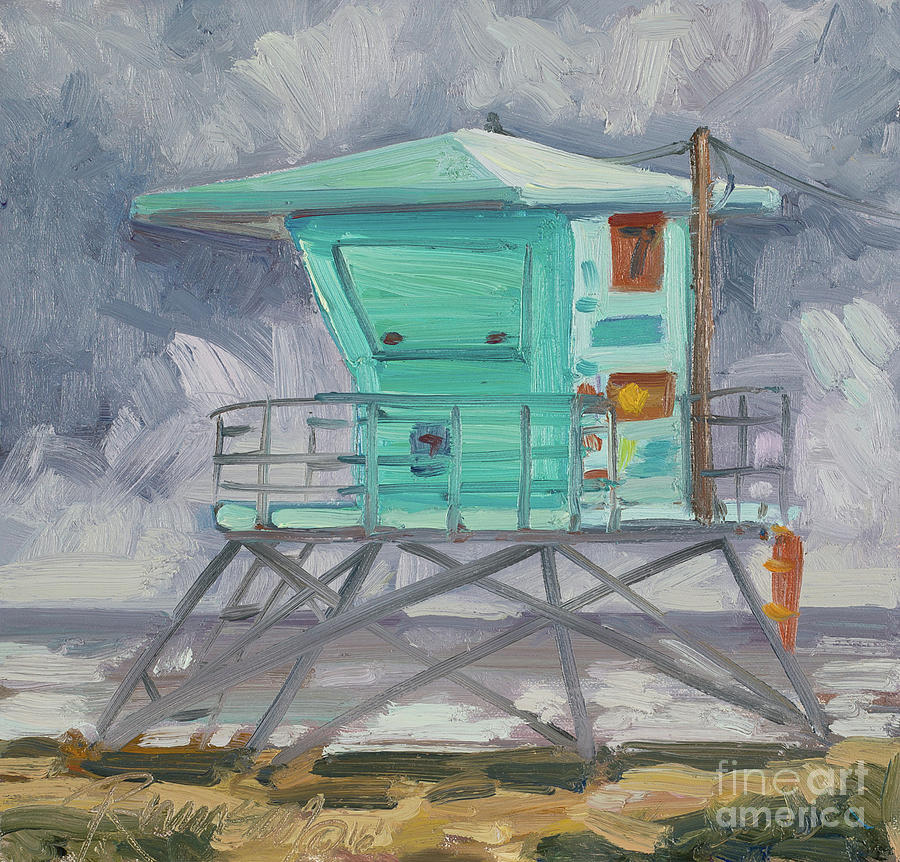 Life Guard Tower 7 at Sycamore Cove Beach by Julie Rumsey