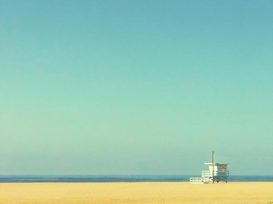 Horizontal Photograph - Life Guard Tower by Denise Taylor