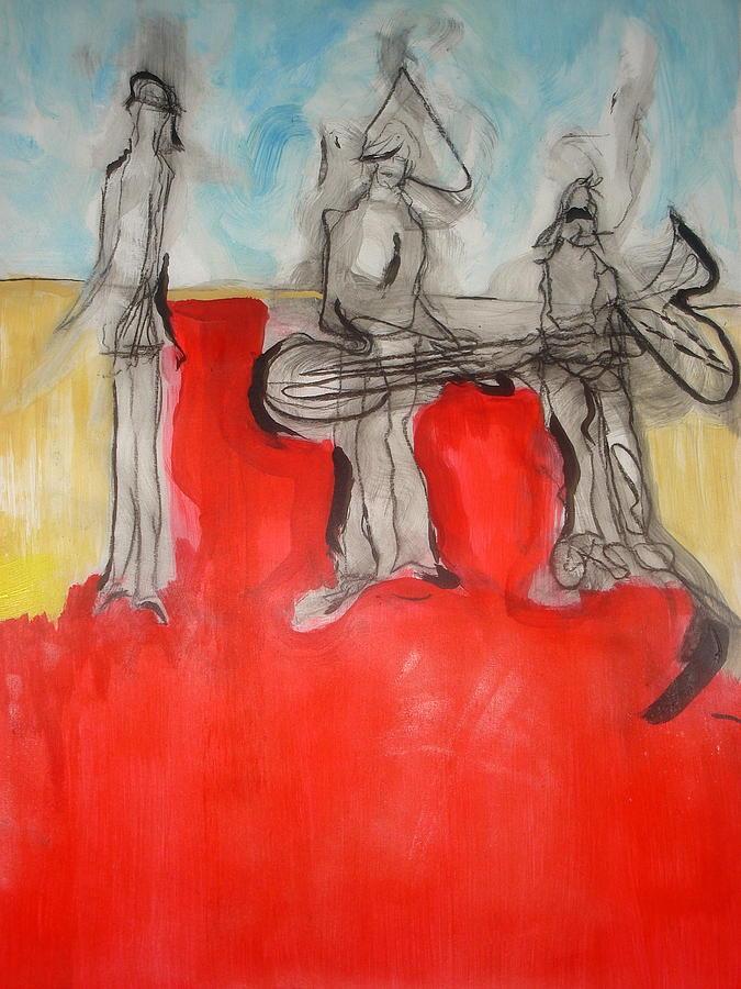 People Painting - Life by Harout Jorekjian