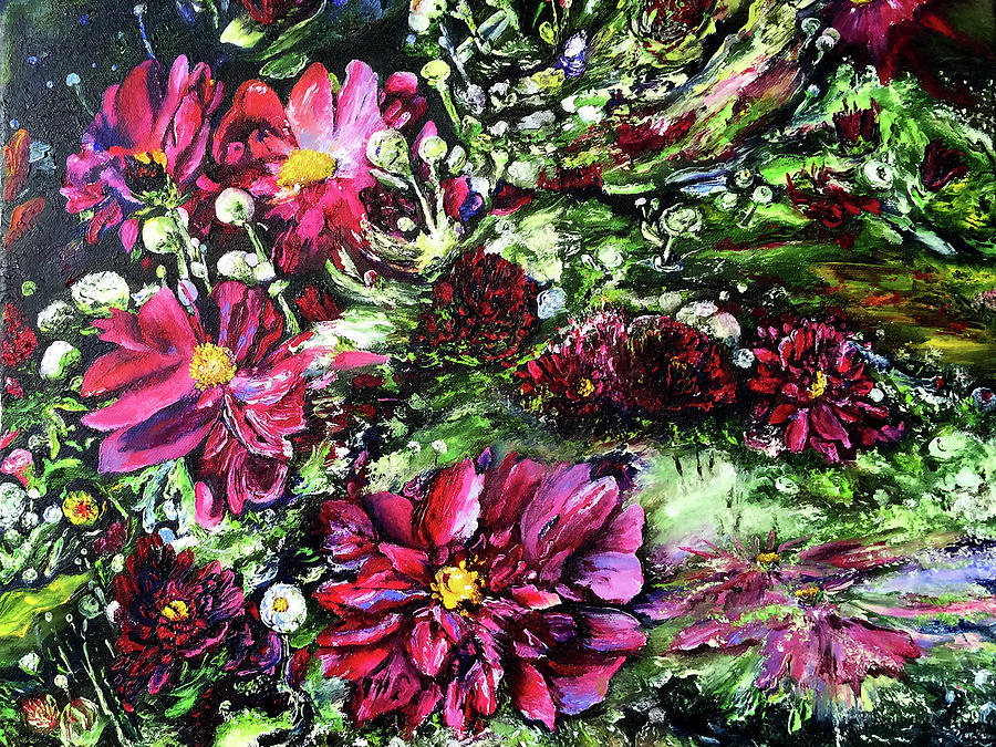 Flowers Painting - Life In A Bloom Field by Terry R MacDonald